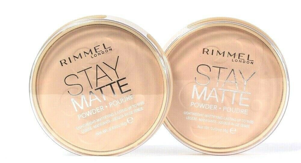 2 Count Rimmel 0.49 Oz Stay Matte 012 Buff Beige Lightweight Mattifying Powder