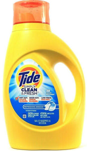 1 Tide 55 Oz Simply Clean & Fresh Refreshing Breeze 38 Loads Laundry Detergent
