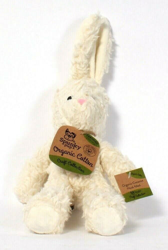 1 Count Spunky Pup Craft Collection Certified Organic Cotton White Bunny Dog Toy