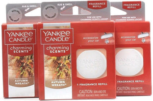 3 Yankee Candle Charming Scents Autumn Wreath 1 Count Each Fragrance Refills