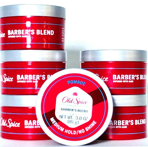 6 Count Old Spice 3 Oz Barber's Blend With Aloe Medium Hold No Shine Pomade
