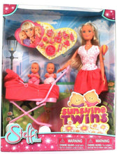 Load image into Gallery viewer, Simba Toys Steffi Love Doll With Sunshine Twins In Buggy & Accessories Age 3 Up