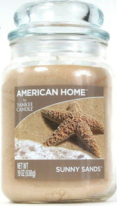 1 American Home By Yankee Candle 19 Oz Sunny Sands Single Wick Glass Jar Candle