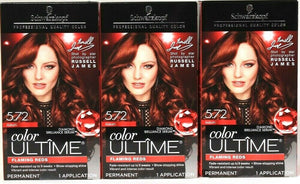 3 Boxes Schwarzkopf Color Ultime 5.72 Aubrun Diamond Serum Level 3 Permanent Dye
