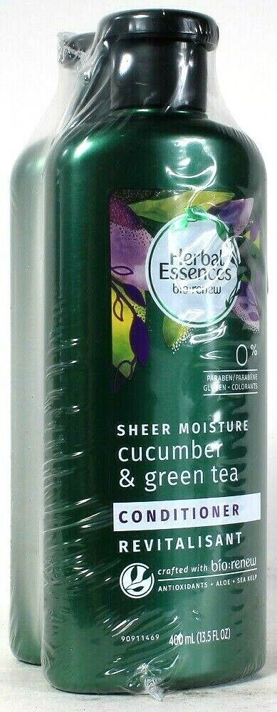 2 Pack Herbal Essences 13.5 Oz Sheer Moisture Cucumber & Green Tea Conditioner