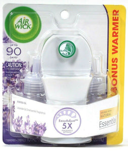 Air Wick 1.34 Oz Lavender Chamomile 2 Ct Scented Essential Oil Refills & Warmer