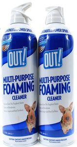 2 Out! Multi-Purpose Foaming Cleaner Pet Carpet & Floor Cleaner 17oz Cans