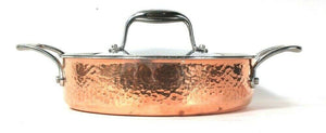 Lagastina Martellata J3L598220 Hammered Copper 3 Qt Covered Casserole