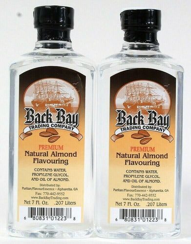 2 Count Back Bay Trading Company 7 Oz Premium Natural Oil Of Almond Flavoring
