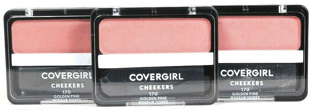 3 Ct Covergirl Cheekers 170 Golden Pink 0.12 Oz Easy Natural Blendable Blush