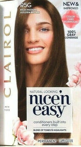 1 Clairol Nice'N Easy Color Care Formula R5G Rich Medium Golden Brown Perm Dyes