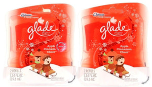 2 Glade Apple Cinnamon Cheer Scented Oil Plugins Refills 2 Refills Per Pack