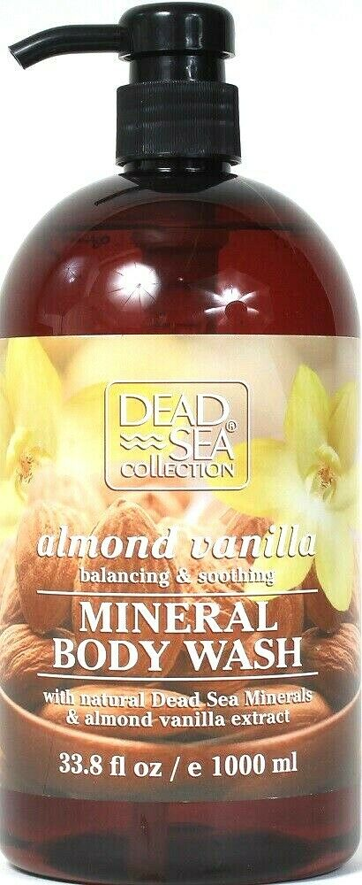 1 Bottle Dead Sea Collection 33.8 Oz Almond Vanilla Soothing Mineral Body Wash