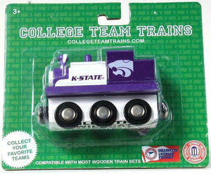 1 Officially Licensed College Team Trains K State Wildcat Compatible Wood Trains