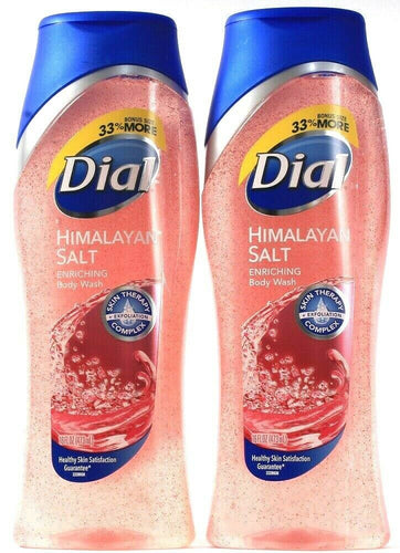 2 Bottles Dial 16 Oz Himalayan Salt Enriching Skin Therapy Exfoliating Body Wash