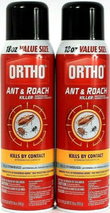 2 Ortho Ant and Roach Killer 18oz Value Size Kills By Contact Spray Aerosol Can