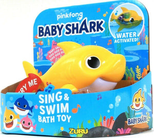 1 Zuru Robo Alive Junior Pingfong Sing & Swim Yellow Baby Shark Bath Toy 18 M Up