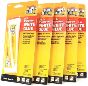 5 Packs of 2 The Original Super Glue All Purpose White Glue For Wood Paper