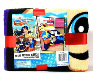 1 Ct Franco Manufacturing Co DC SuperHero Girls 62 X 90 In Micro Raschel Blanket