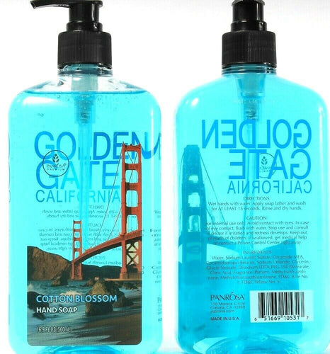 2 Ct Panrosa Premium Golden Gate California Cotton Blossom Hand Soap 16.9 Fl oz