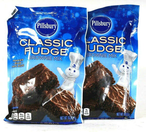 2 Bags Pillsbury 10.25 Oz Classic Fudge Brownie Mix Makes 8 X 8