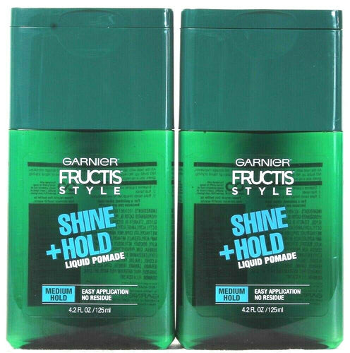 2 Count Garnier Fructis Style 4.2 Oz Shine Medium Hold Liquid Pomade No Residue
