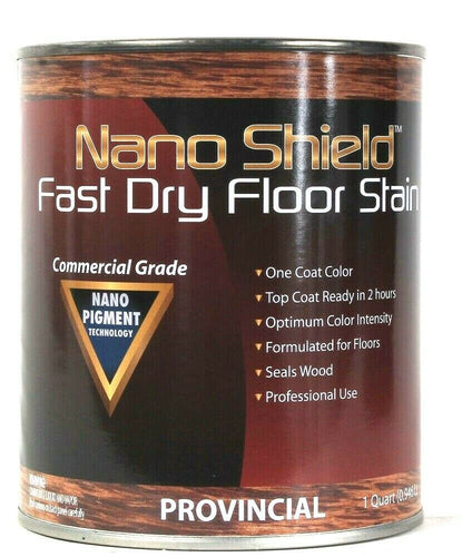 1 Can Nano Shield 32 Oz 268990 Provincial Fast Dry Commercial Grade Floor Stain