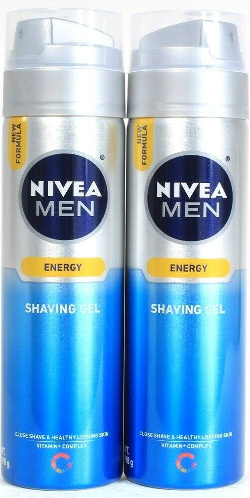 2ct Nivea Men 7 Oz Energy Vitamin Complex Healthy Looking Skin Close Shaving Gel