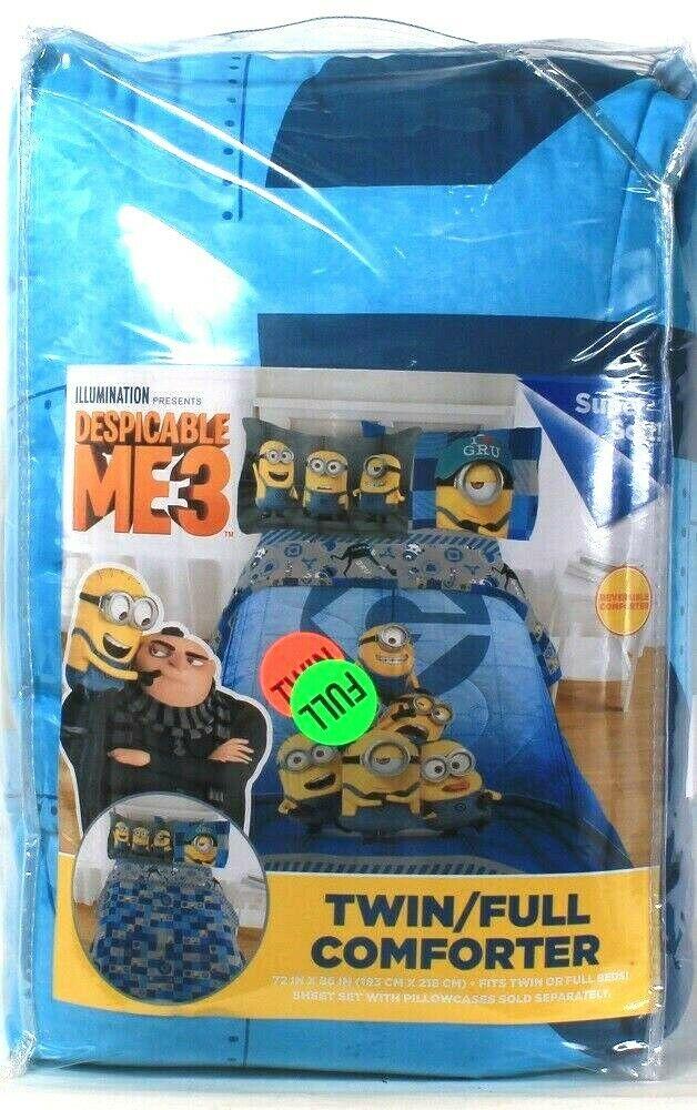 Franco Manufacturing Co Despicable Me 3 Twin Full Reversible Soft Comforter