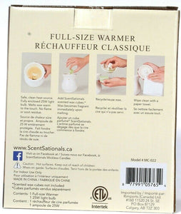1 Scentsationals Full Size Scented Wax Warmer Sitara Model MC-022 Safe and Clean