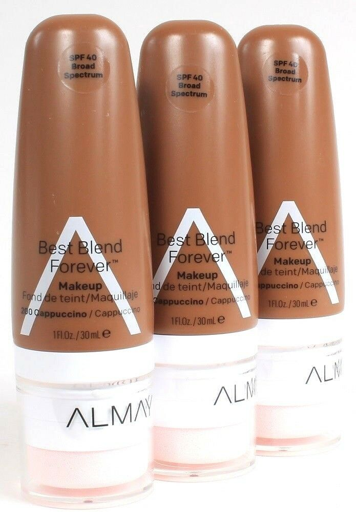 3 Ct Almay 200 Cappuccino SPF 40 Broad Spectrum Best Blend Forever Makeup