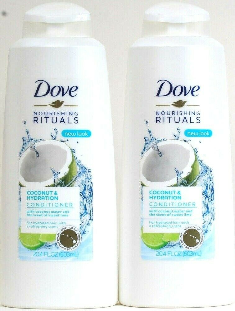2 Dove 20.4 Oz Nourishing Rituals Coconut Water Sweet Lime Hydration Conditioner