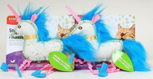 2 Ct SmartyKat Fantasy Frenzy Unicorn Silvervine & Catnip Blend Fun Crinkle Toy