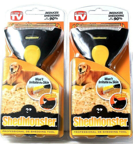 2 ShedMonster Reduce Shedding Up To 90% Professional De-Shedding Grooming Tool