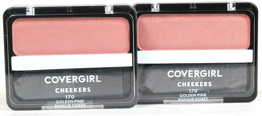 2 Ct Covergirl Cheekers 170 Golden Pink 0.12 Oz Easy Natural Blendable Blush