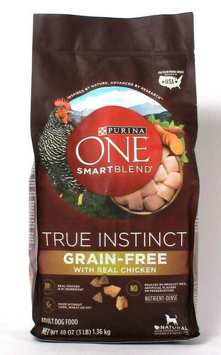 Purina One 48 Oz Smartblend True Instinct Grain Free Real Chicken Dry Dog Food