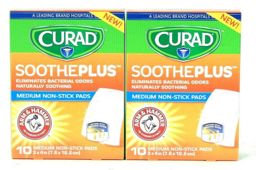 2 Boxes Curad Sootheplus Eliminate Odor 3 X 4