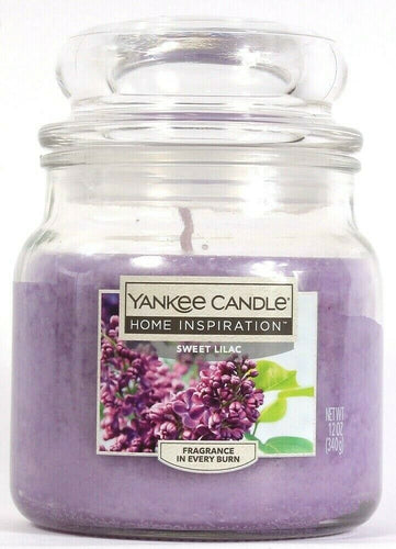 1 Yankee Candle Home Inspiration 12 Oz Sweet Lilac Fragrance Single Wick Candle