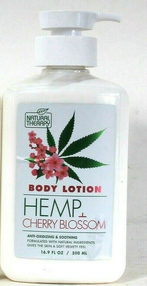 1 Bottles Natural Therapy 16.9 Oz Hemp & Cherry Blossom Soothing Body Lotion