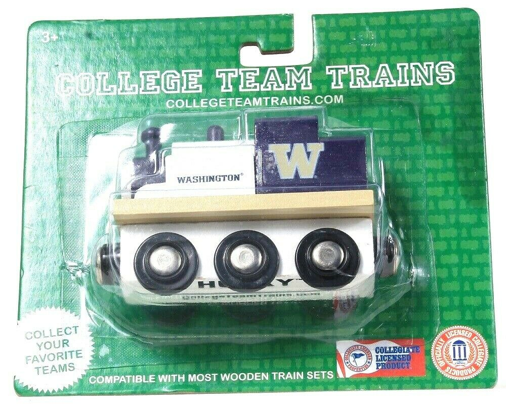 1 Officially Licensed College Team Trains Washington Husky Compatible Wood Train