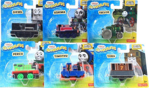 6 Count Fisher Price Thomas & Friends Adventures Metal Engine Variety Set 3 & Up
