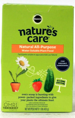 1 Miracle Gro Nature's Care 1 Lb Natural All Purpose Water Soluble Plant Food