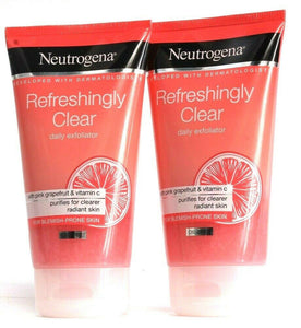 2 Neutrogena Refreshingly Clear Daily Exfoliator Purifies Blemish Prone Skin 5oz