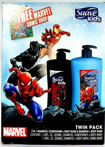1 Suave Kids Marvel Twin Pack Gift Set Free Marvel Comic Book 3in1 Shamp Cond