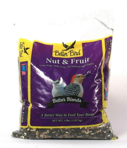 1 Bag Better Bird 4 Lbs Nut & Fruit Corn Free & Milo Free All Natural Ingredient