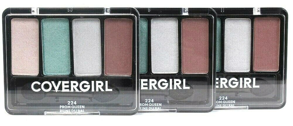 3 Ct Covergirl 0.19 Oz 224 Prom Queen 4 Palette Blendable Eye Enhancers Shadow