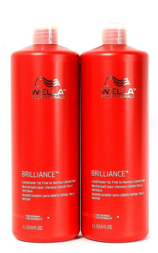 2 Wella Professionals 33.8 Oz Brilliance Fine To Normal Colored Hair Conditioner