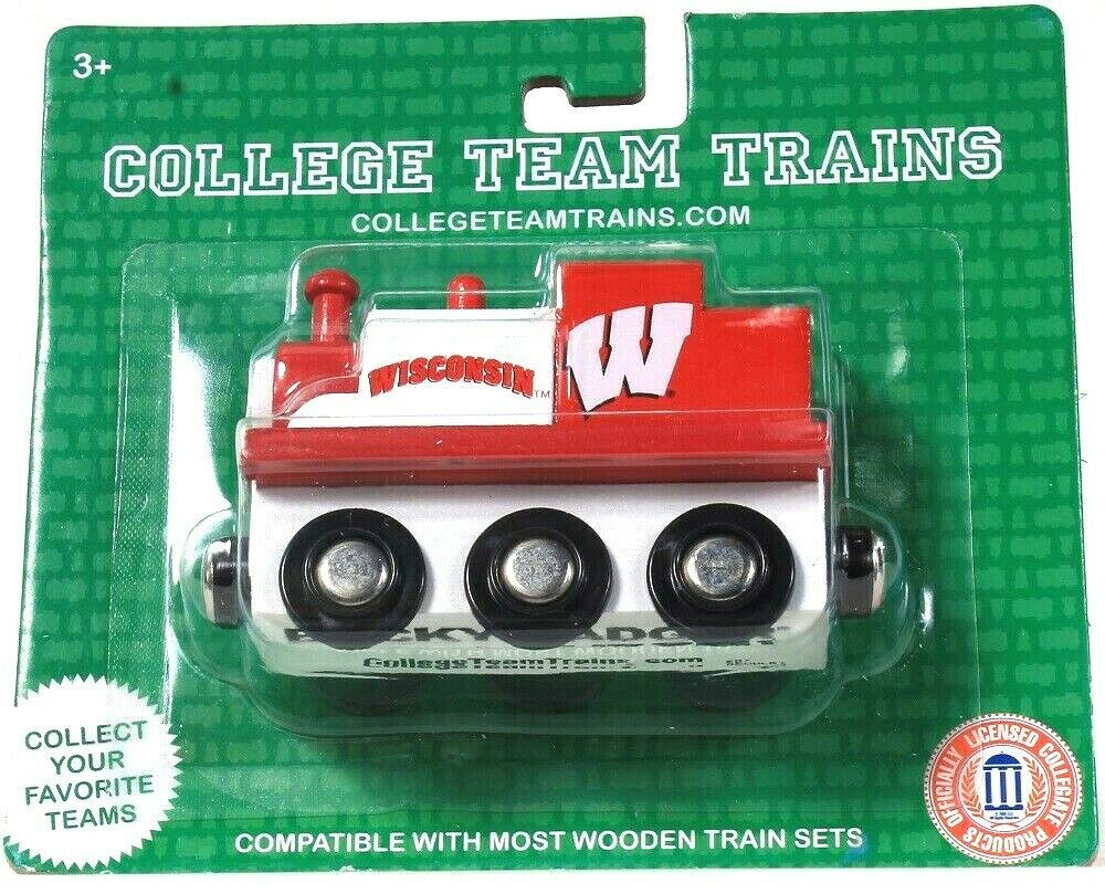 1 Officially Licensed College Team Trains Wisconsin Bucky Badger Wood Train
