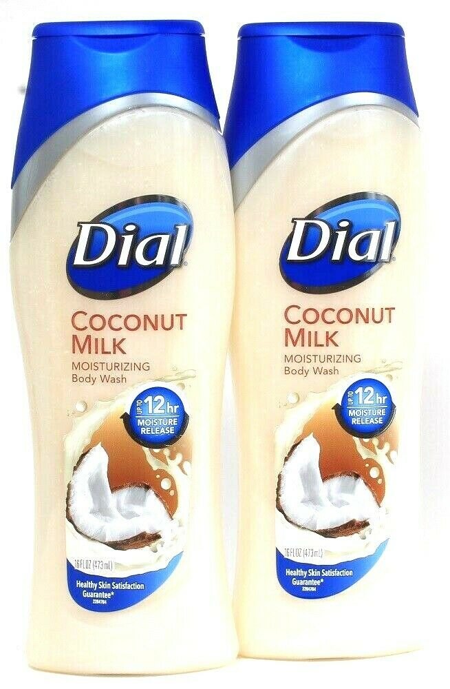 2 Ct Dial 16 Oz Coconut Milk Up To 12hr Moisturizing Balance Release Body Wash