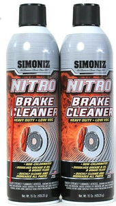 2 Simoniz 15 Oz Nitro Heavy Duty Low Voc Dissolves Grease & Oil Brake Cleaner